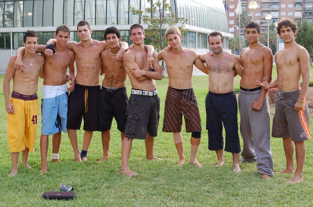 ruben blasco el bala con el equipo quickflips en la quedada de valencia agosto 2007